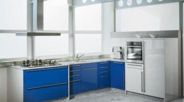 Cuina de color blau