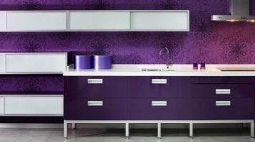 Cuina de color lila