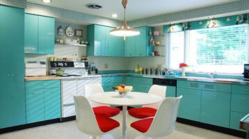 Cuina de color turquesa