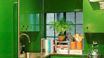 Cuina de color verd viu