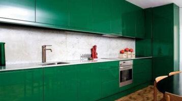 Cuina de color Cuina de color verd intens