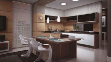 Cuina moderna d'un apartament