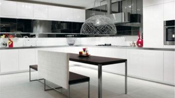 Cuina moderna en color blanc brillant