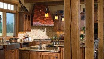 Cuina rústica de fusta natural