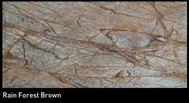 Marbre rainforest brown